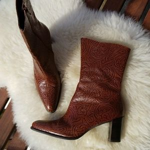 A Marinelli Vintage tooled leather boots